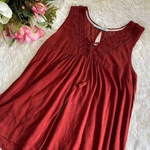 Maurices Lace Tassel Tank Top